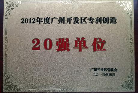 2012年度广州开发区专利